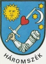 sigla ţinutului Trei Scaune - HAROMSZEK din vremea ocupatiilor austro- ungara si horthysta