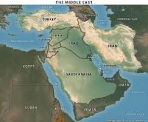 harta Turcia, Siria, Iran