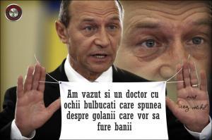 cu ochii bulbucati - Basescu