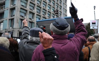 Protestari in fata TVR