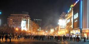 violente Piata Unirii Bucuresti 15 ianuarie 2012