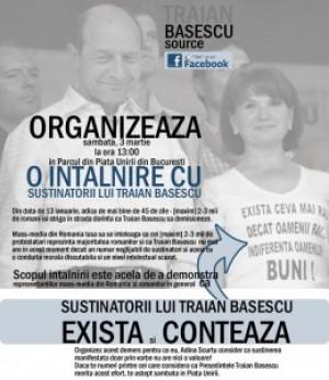 Sustinatorii lui Traian Basescu exista si conteaza