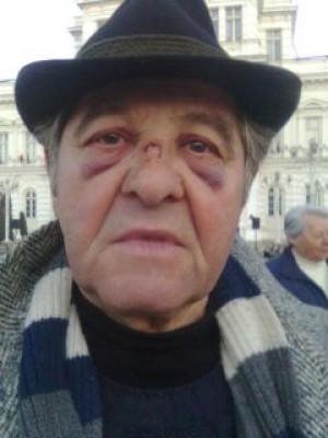 Unul dintre protestatarii de la Arad
