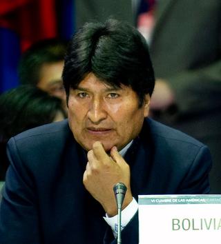 preşedintele Boliviei Evo Morales