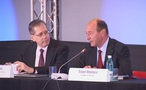 Mark Gitenstein si Traian Basescu
