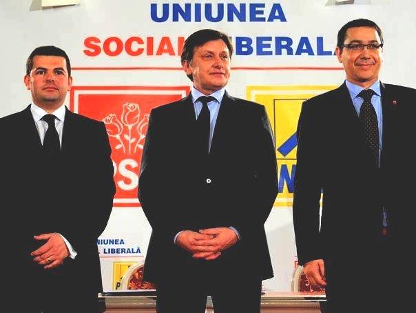 usl lideri Victor Ponta Crin Antonescu Daniel Constantin
