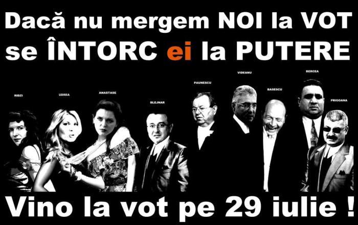 vino la vot pe 29 iulie 2009 voteaza DA voteaza pentru demiterea lui Basescu Traian