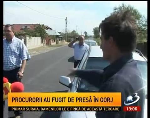 procurorii au fugit de presa in judetul Gorj