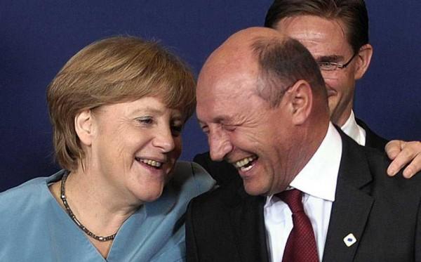 Angela Merkel si Basescu Traian