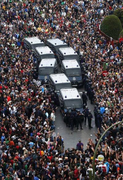 proteste Madrid