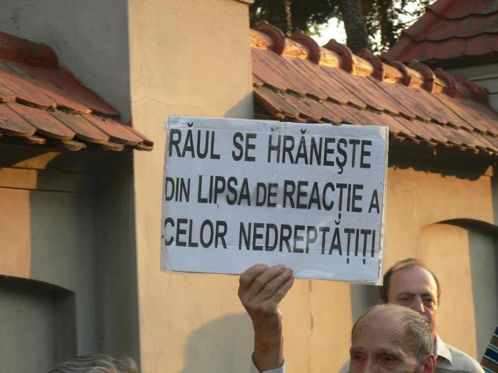 Raul se hraneste din lipsa de reactie a celor nedreptatiti