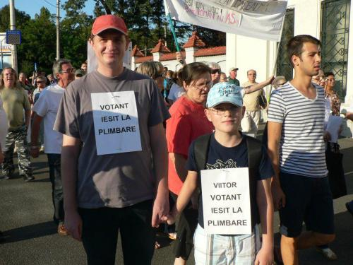votant iesit la plimbare