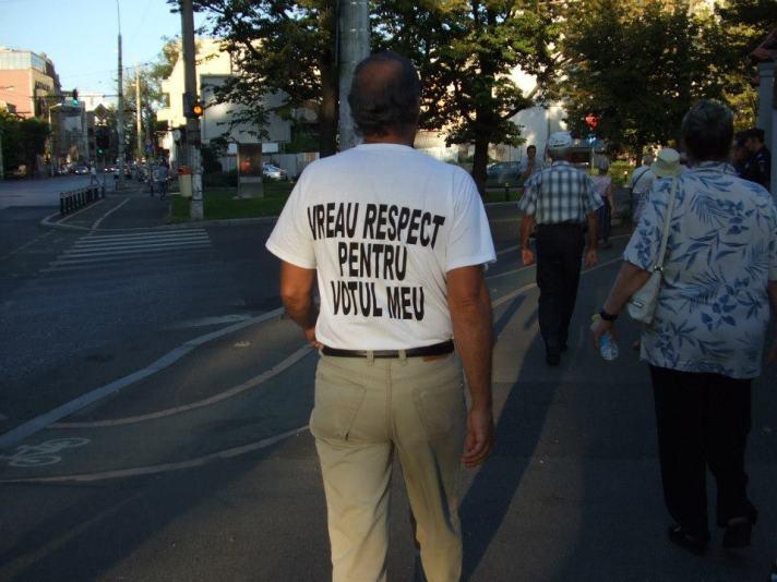 Vreau respect pentru votul meu!