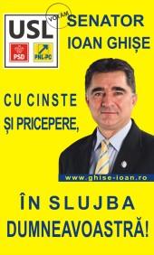 Ioan Ghise candidat USL colegiul senatorial nr 3 Brasov