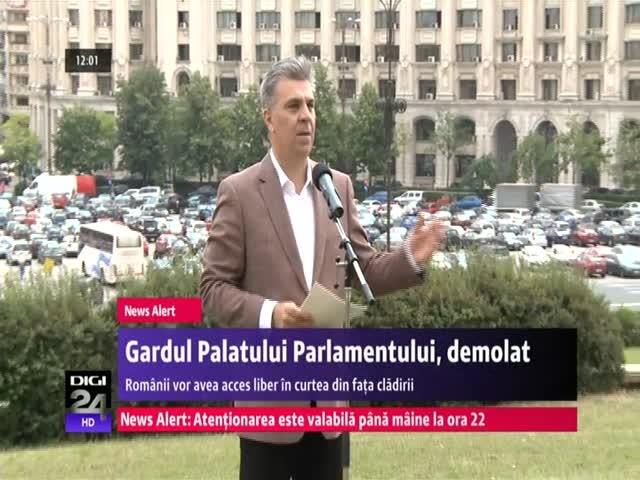 Gardul Palatului Parlamentului demolat de Valeriu Zgonea