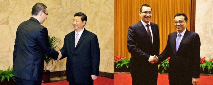 Premierul Victor Ponta  intrevedere cu presedintele Republicii Populare Chineze, Xi Jinping si cu prim-ministrul Li Keqiang