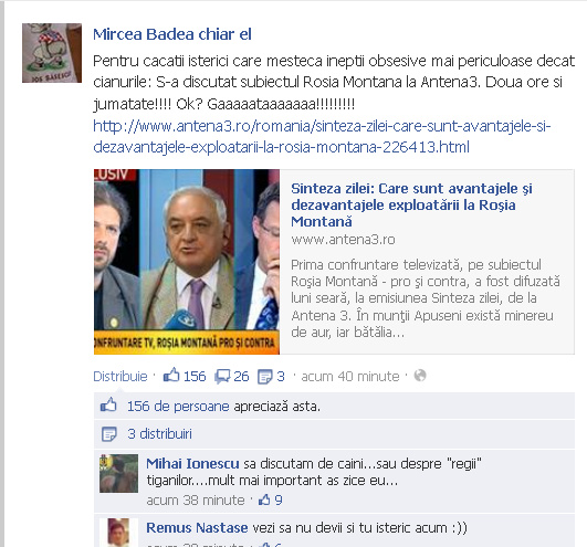 Mircea Badea chiar el