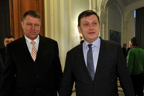 Crin Antonescu Klaus Iohannis