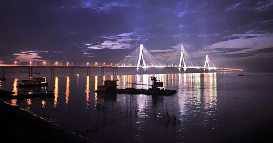 Dong ting lake bridge