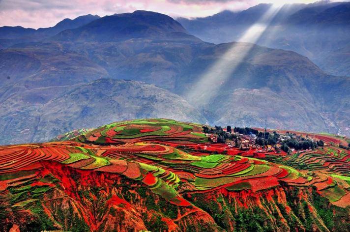 Dongchuan, Yunnan, Read land.